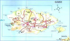 Map of Malta, Gozo & Comino - Detailed Street & Road Map